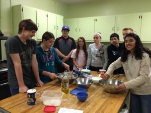 Confirmation Class Baking Communion Bread